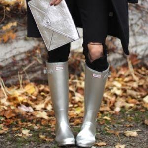 HUNTER LIMITED EDITION Silver Original Rain Boots